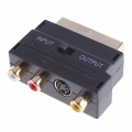 RGB Scart till Composite RCA+S-Video AV TV Audio Adapter
